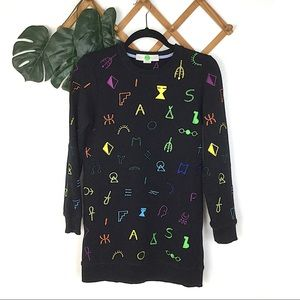 Stella McCartney Black Embroidered Sweater Small